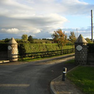 Gate leading to Auntie Pat's luxury boarding kennels and cattery